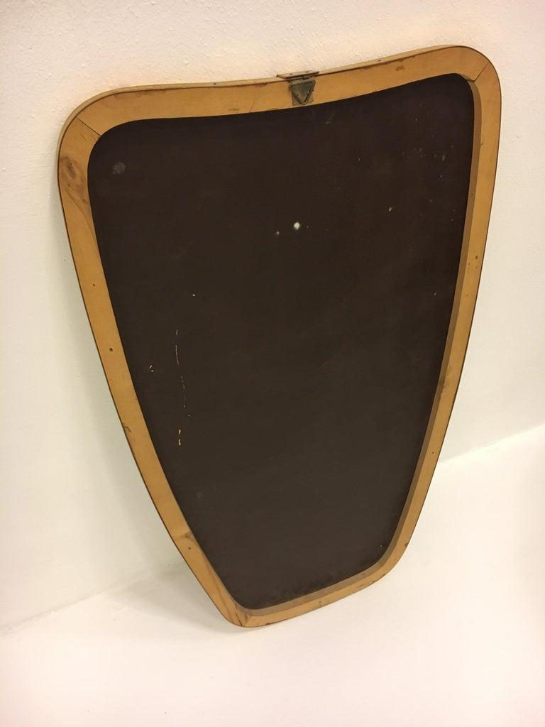 Mid-Century Modern Brass Mirror, Italy 1950s For Sale 4