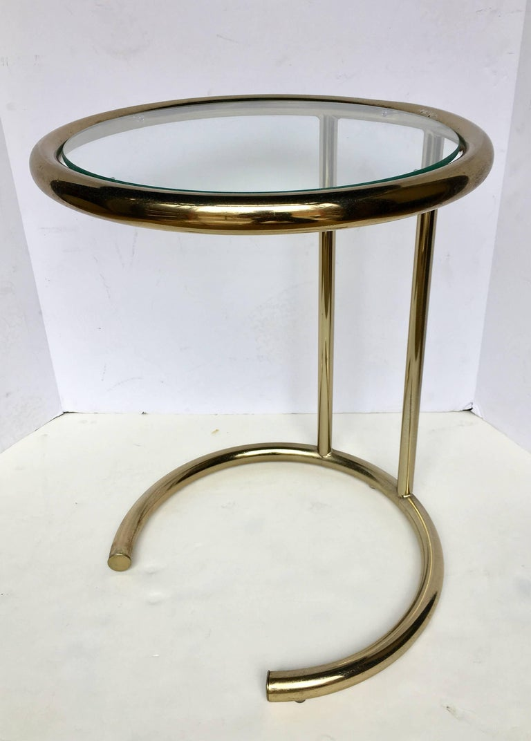 Late 20th Century Mid-Century Modern Brass Nesting Drink Side Tables For Sale