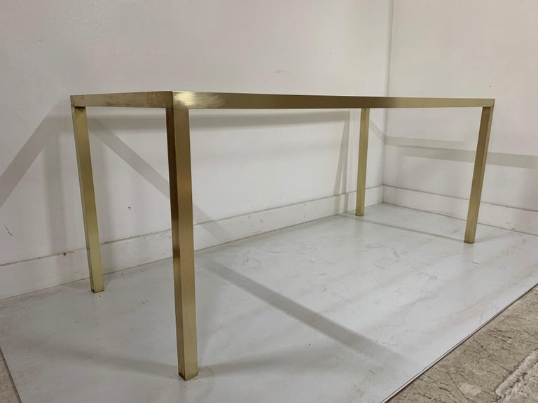 Mid-Century Modern Brass Table Base In Good Condition For Sale In New York, NY