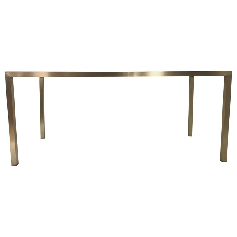 Mid-Century Modern Brass Table Base For Sale