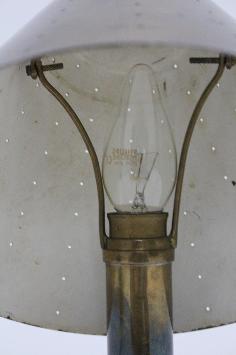 Mid-Century Modern Brass Table Lamp by Carl Axel Acking Attributed, 1940s Sweden For Sale 10