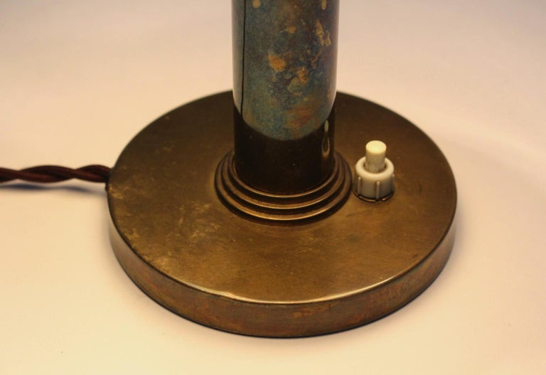 Mid-Century Modern Brass Table Lamp by Carl Axel Acking Attributed, 1940s Sweden For Sale 15