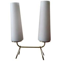 Mid-Century Modern Brass Table Lamp, France, 1950s