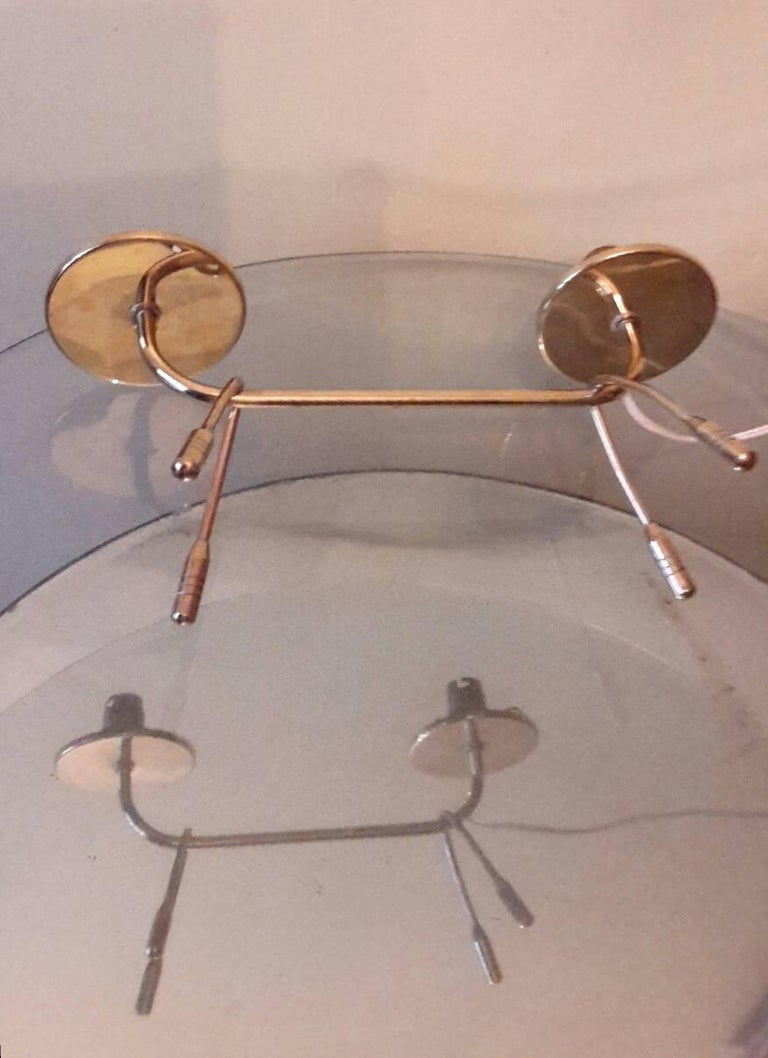 Mid-20th Century Mid-Century Modern Brass Table Lamp, France, 1950s For Sale