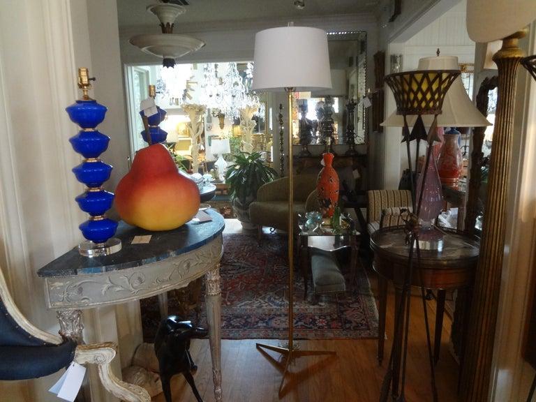 Mid-Century Modern Brass Tripod Floor Lamp 6