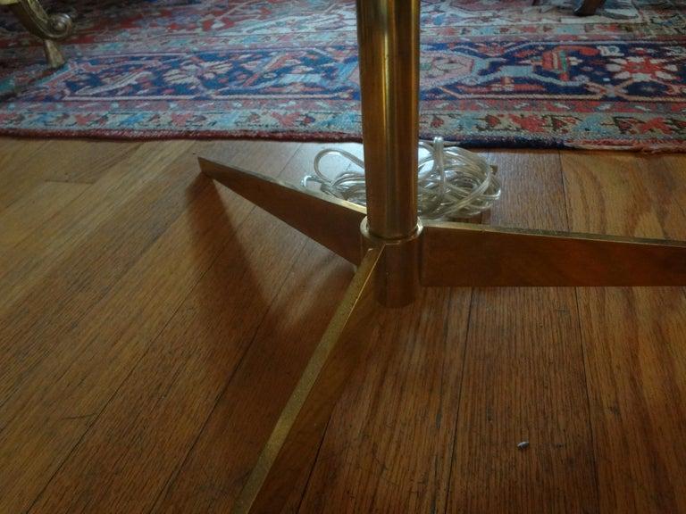 Mid-20th Century Mid-Century Modern Brass Tripod Floor Lamp