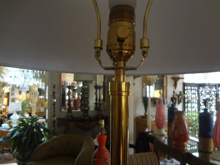 Mid-Century Modern Brass Tripod Floor Lamp 1