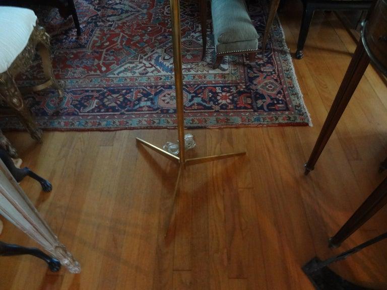 Mid-Century Modern Brass Tripod Floor Lamp 4