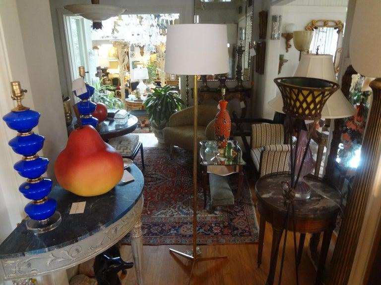 Mid-Century Modern Brass Tripod Floor Lamp 5