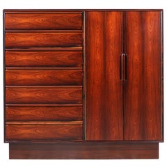 Mid-Century Modern Brazilian Rosewood Bachelor Chest of Drawers