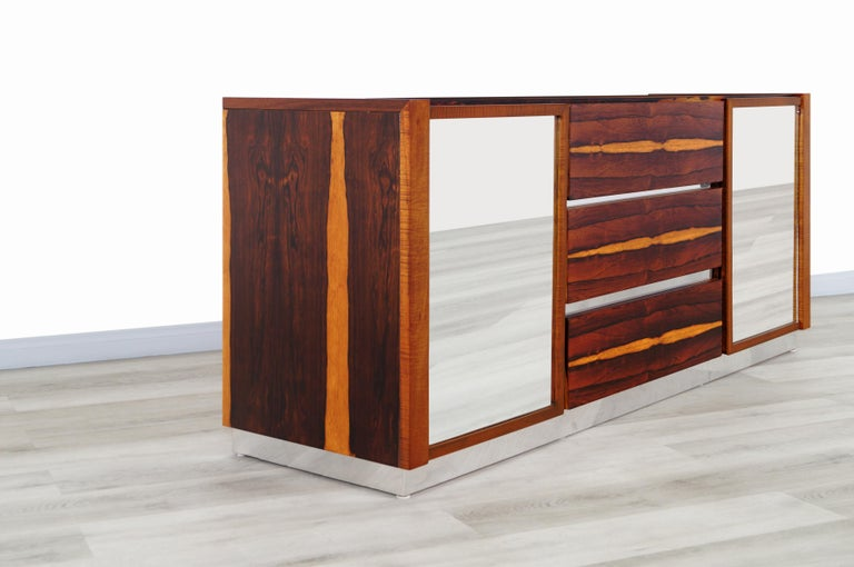 Mid-20th Century Mid-Century Modern Brazilian Rosewood Credenza For Sale