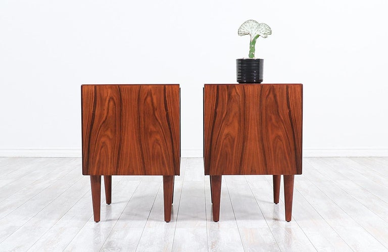 Mid-Century Modern Brazilian Rosewood Nightstands by Westnofa In Excellent Condition For Sale In Los Angeles, CA