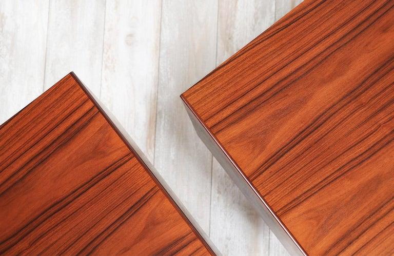 Mid-Century Modern Brazilian Rosewood Nightstands by Westnofa For Sale 1