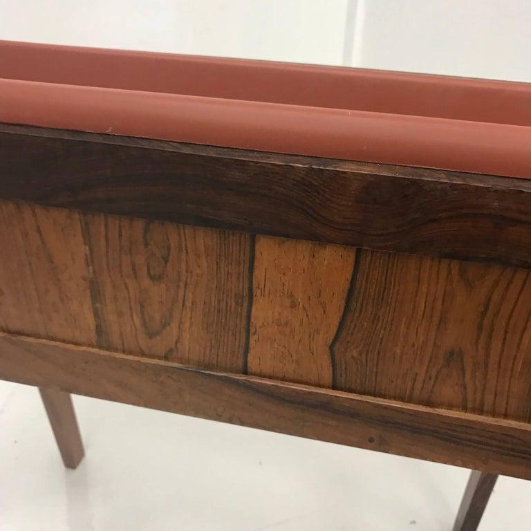 Danish Mid-Century Modern Brazilian Rosewood Planter For Sale