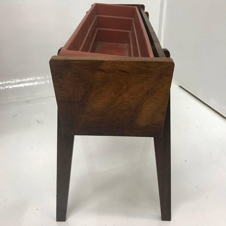 Mid-Century Modern Brazilian Rosewood Planter In Good Condition For Sale In National City, CA