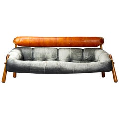 Mid-Century Modern Brazilian Sofa by Percival Lafer Model MP-81, 1960s