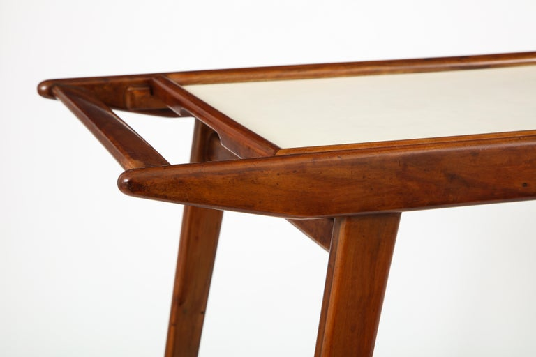 Mid-Century Modern Brazilian Tea Cart in Hardwood and Formica by OCA, 1950s For Sale 2