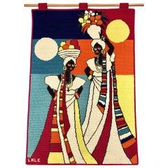 Mid-Century Modern Brazilian Wall Art Tapestry by Lale