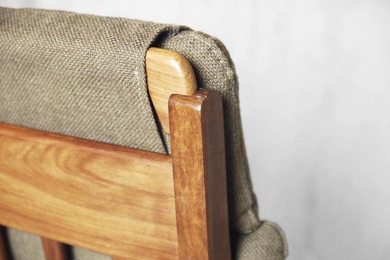 Mid-Century Modern Brazilian Zoomorphic Vintage Sofa with Headrest, 1960s For Sale 12