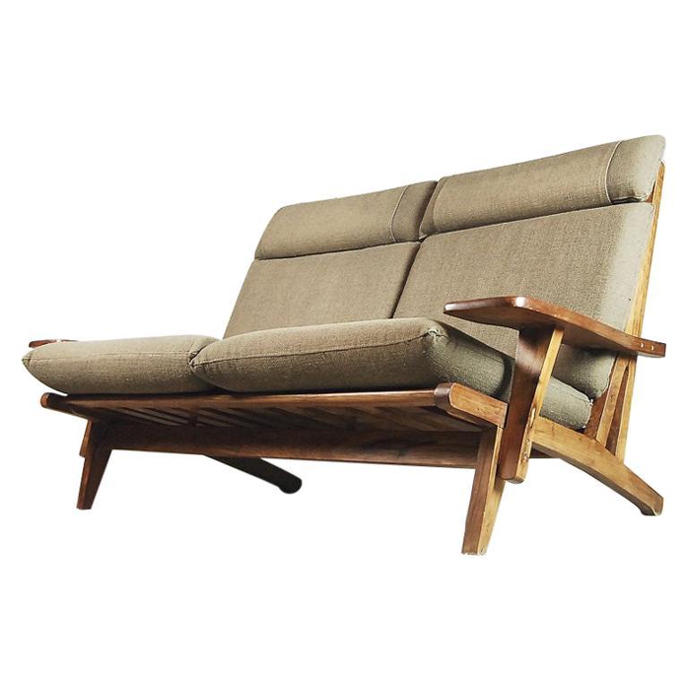 Vintage Mid Century Modern Sofa: Mid-Century Modern Brazilian Zoomorphic Vintage Sofa With