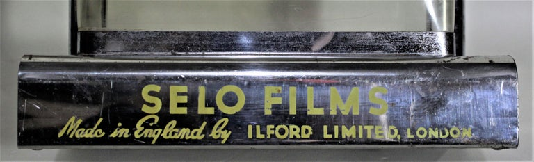 Mid-Century Modern British Ilford Selo Photography Film Store Display For Sale 3
