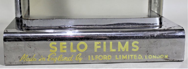 Mid-Century Modern British Ilford Selo Photography Film Store Display For Sale 2
