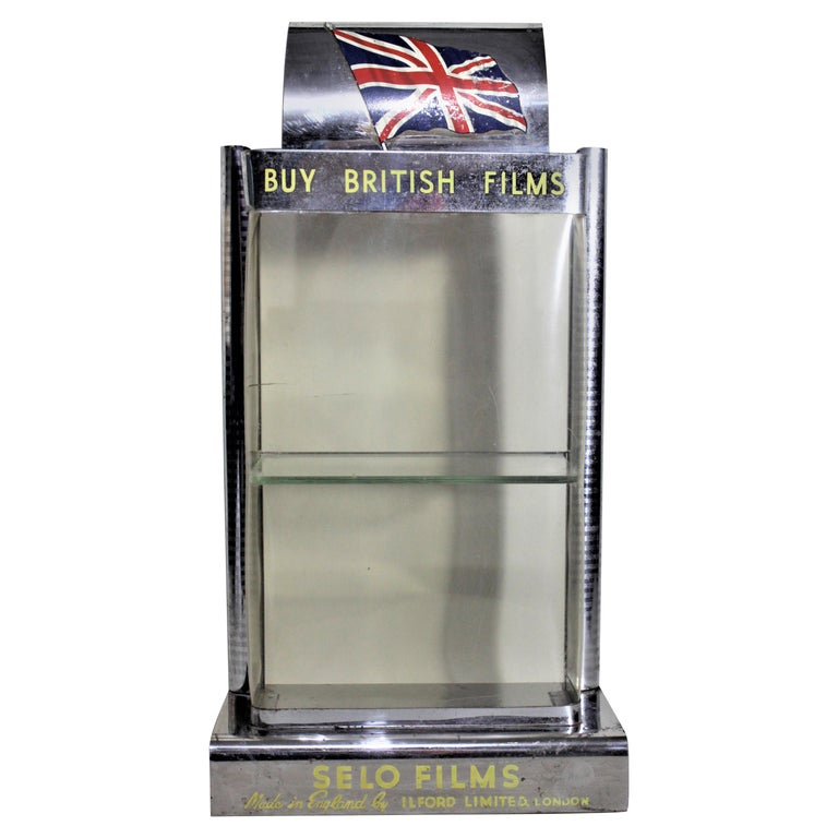 Mid-Century Modern British Ilford Selo Photography Film Store Display For Sale