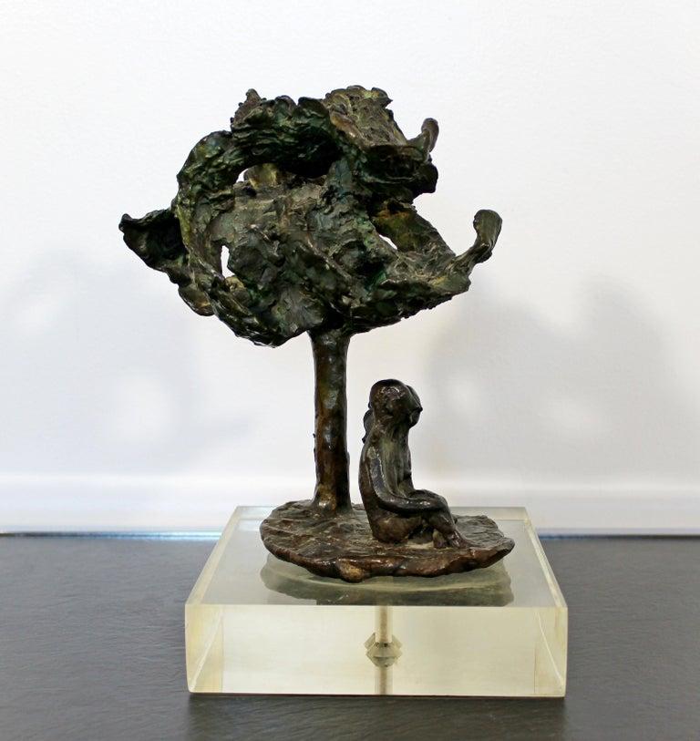 Mid-Century Modern Bronze Art Sculpture by Arthur Schneider, 1970s In Good Condition For Sale In Keego Harbor, MI