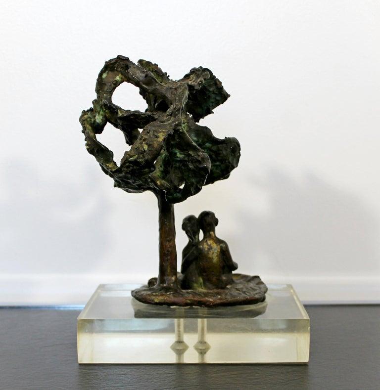 Mid-Century Modern Bronze Art Sculpture by Arthur Schneider, 1970s For Sale 1