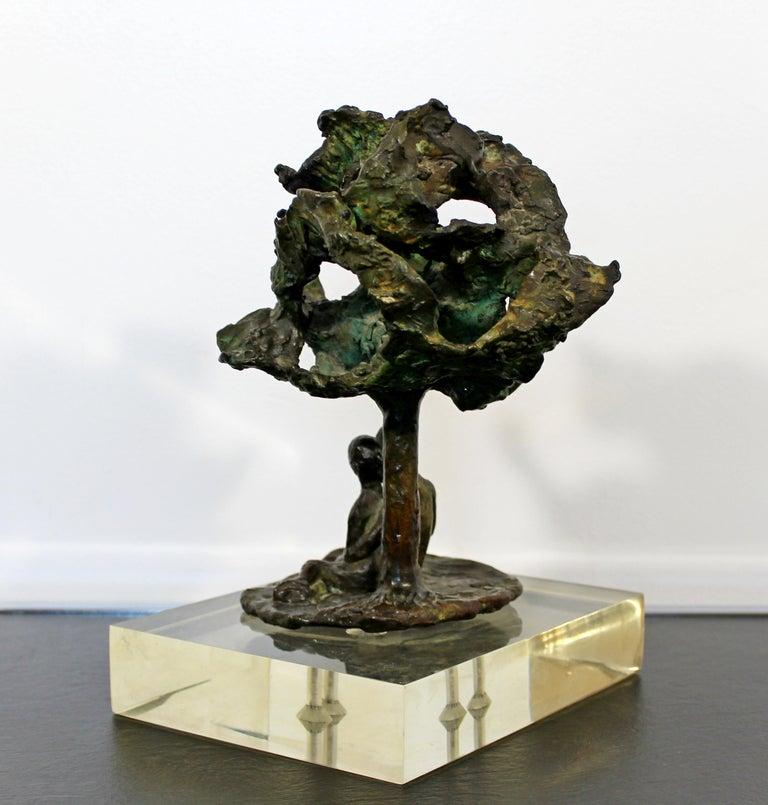 Mid-Century Modern Bronze Art Sculpture by Arthur Schneider, 1970s For Sale 2