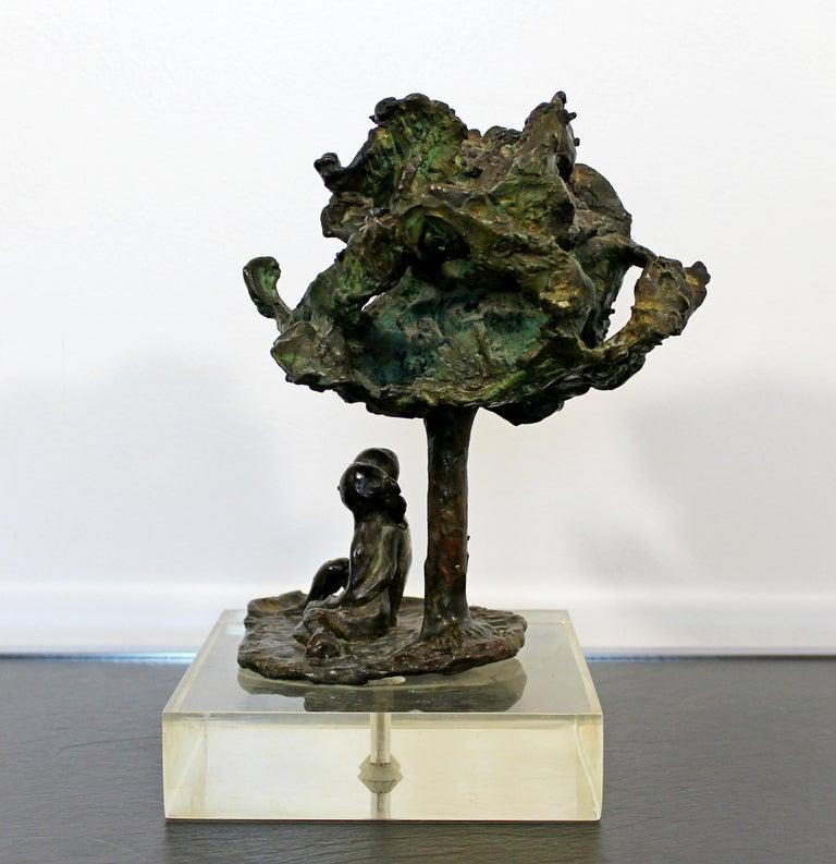 Mid-Century Modern Bronze Art Sculpture by Arthur Schneider, 1970s For Sale 3