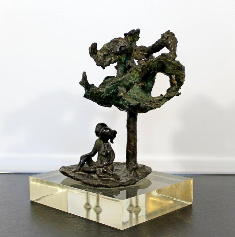 Mid-Century Modern Bronze Art Sculpture by Arthur Schneider, 1970s For Sale 4