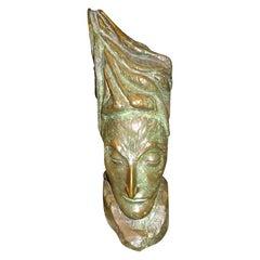 Mid-Century Modern Bronze Bust by J.D. Murillo