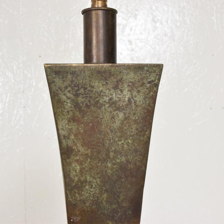 Mid-Century Modern Bronze Floor Lamp with Verdigris Patina ...