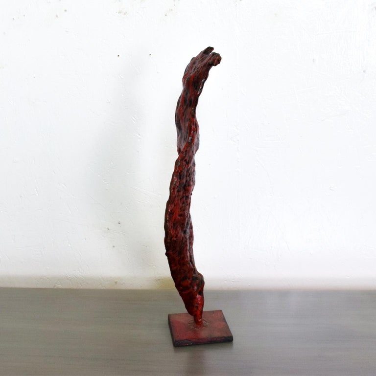 Mid-20th Century Mid-Century Modern Bronze Nude Abstract Sculpture, Giacometti Era For Sale