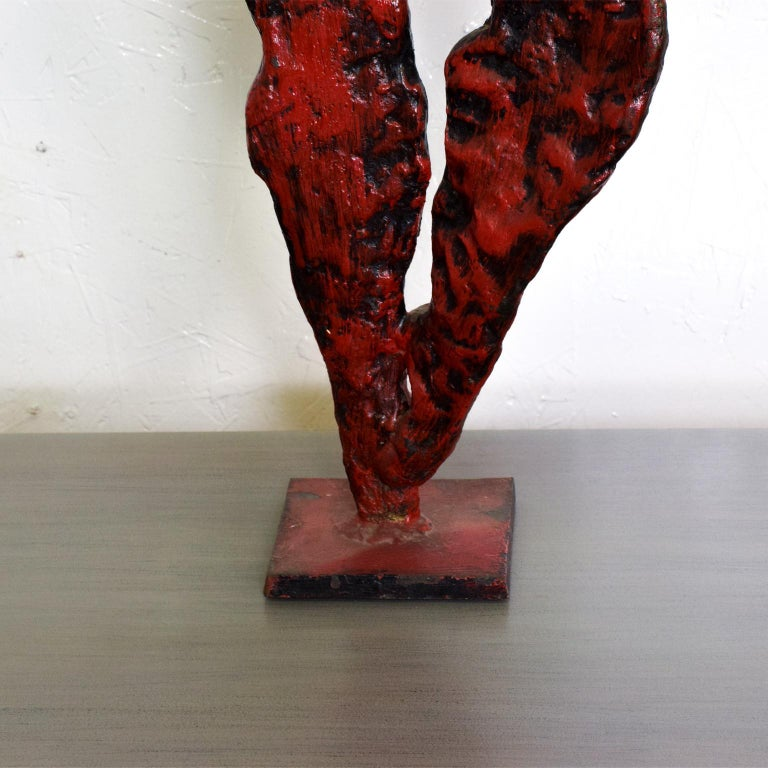 Mid-Century Modern Bronze Nude Abstract Sculpture, Giacometti Era For Sale 1
