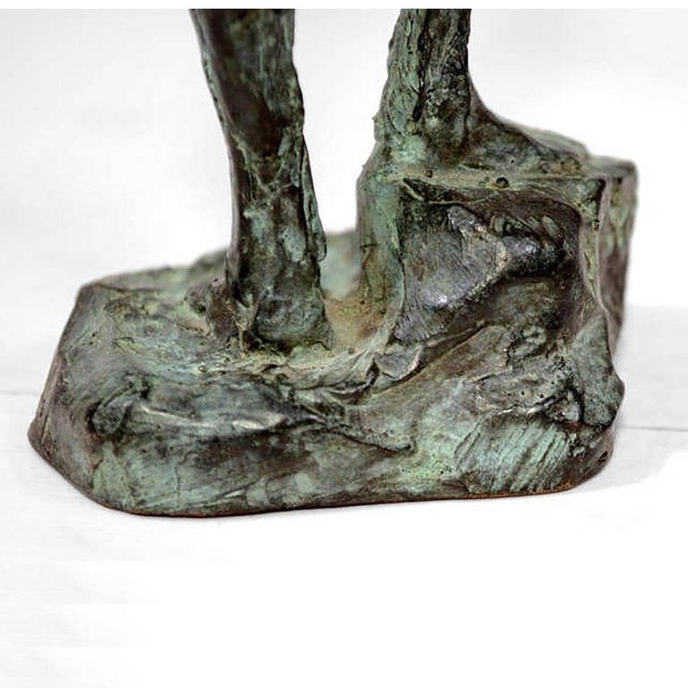 Mid Century Modern Bronze Sculpture Holders After Giacometti For Sale 2