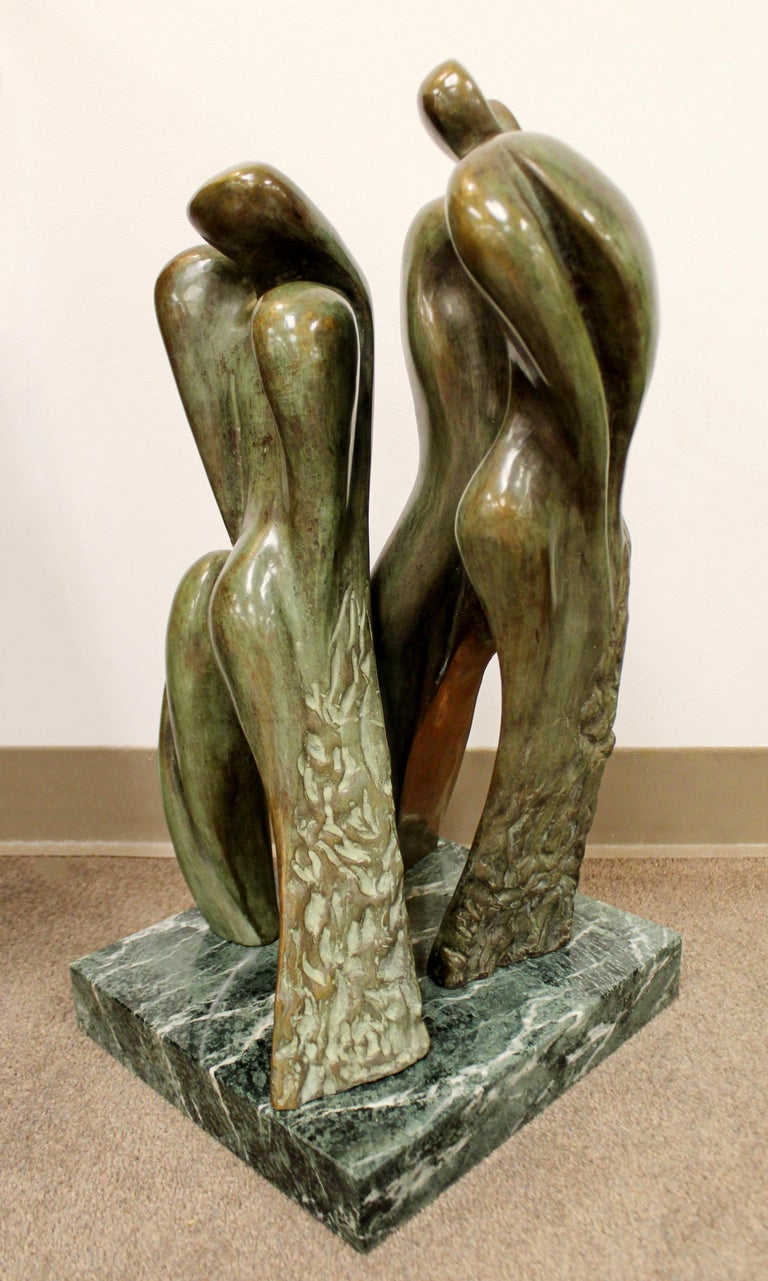 For your consideration is a gorgeous, bronze table sculpture,