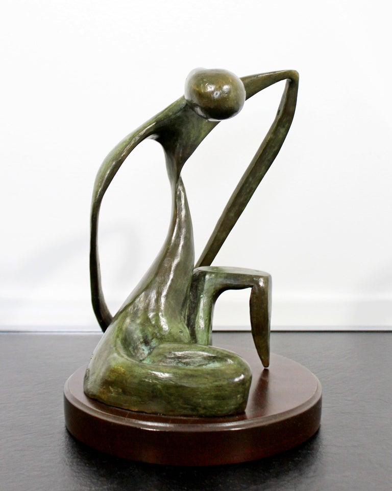 For your consideration is a terrific, bronze table sculpture,