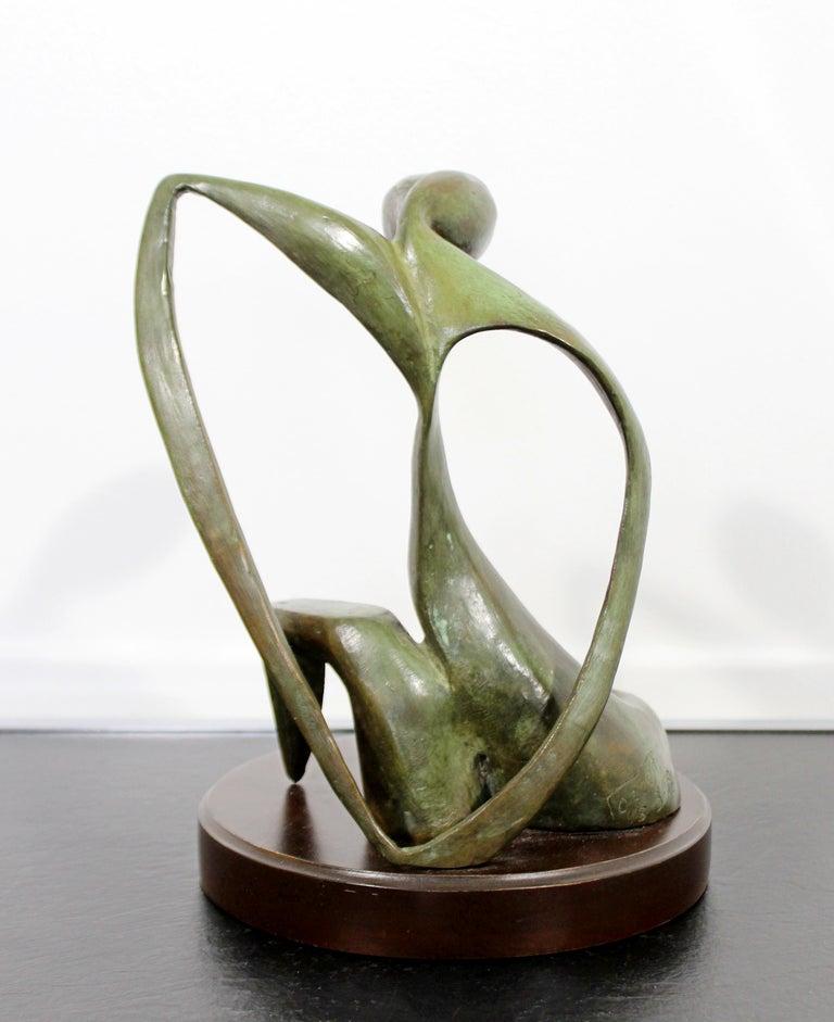 Mid-Century Modern Bronze Table Sculpture Signed Porret Belle Inconnue 1/5 1970s For Sale 3