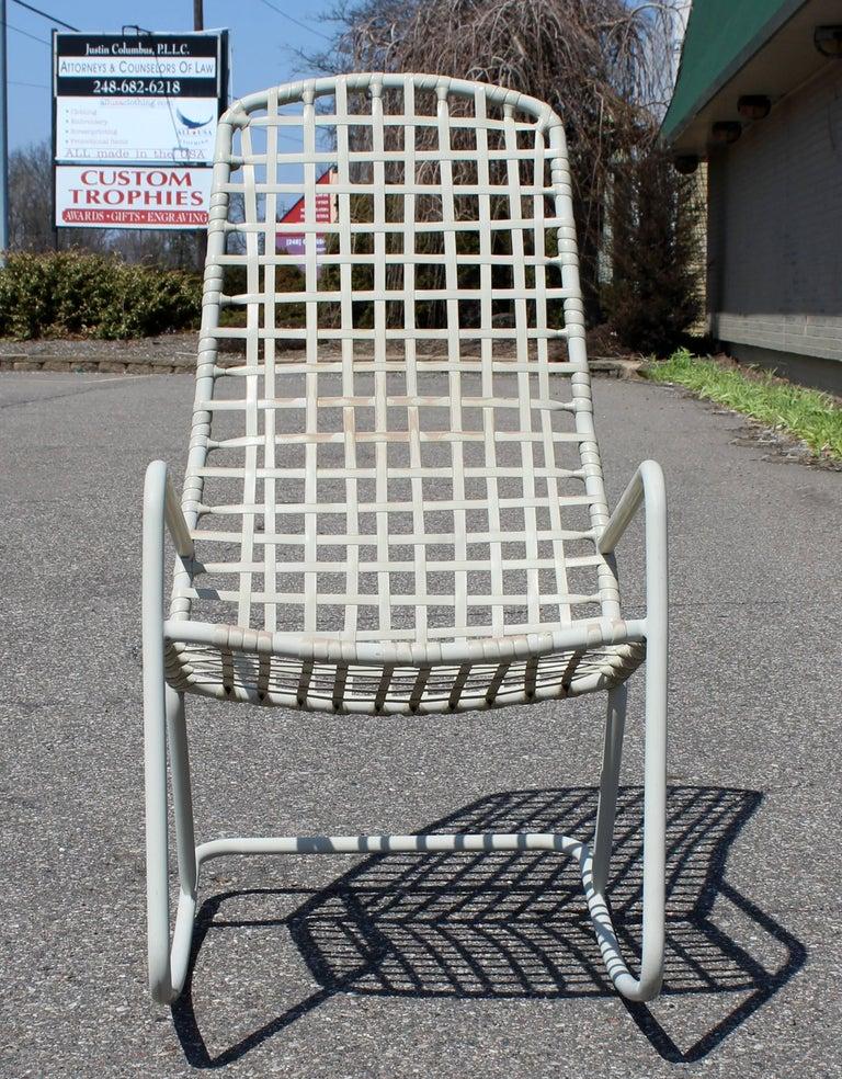 American Mid-Century Modern Brown Jordan Kantan Outdoor Patio Rocker Rocking Chair, 1960s For Sale