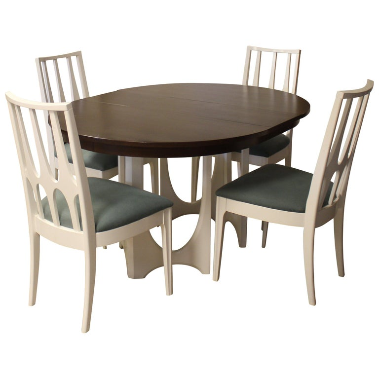 Modern Dining Table Sets On Sale: Mid-Century Modern Broyhill Brasilia Dining Table Chairs