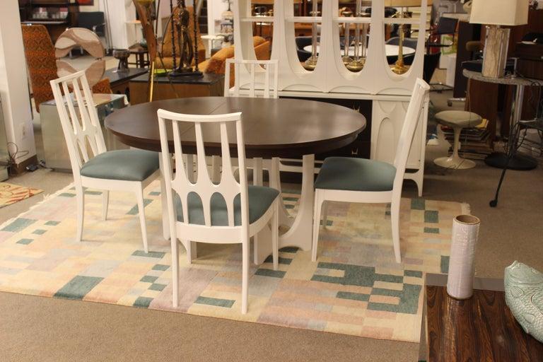 Mid-Century Modern Broyhill Brasilia Dining Table Chairs ...