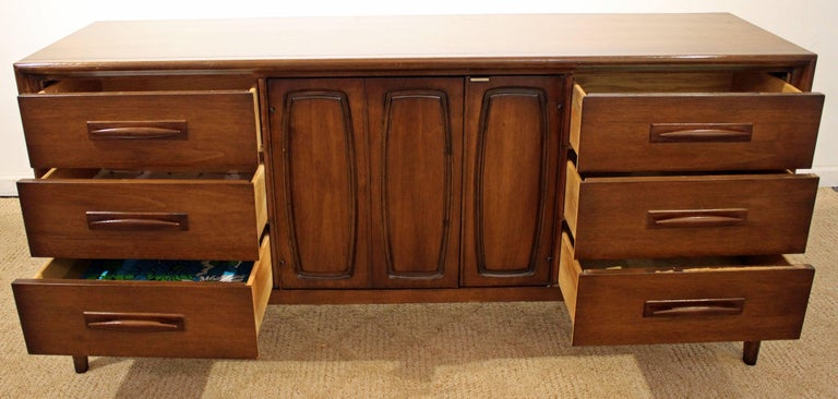 American Mid-Century Modern Broyhill Emphasis Walnut Credenza For Sale