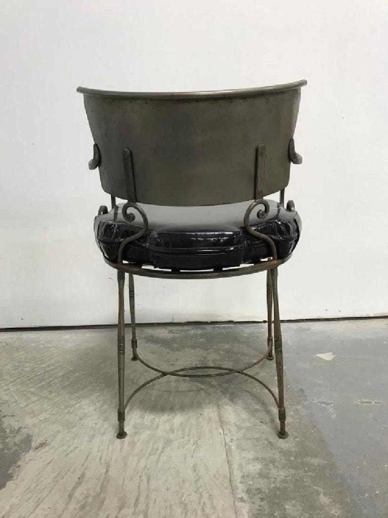Mid-Century Modern Brush Metal Garden Armchairs For Sale 1