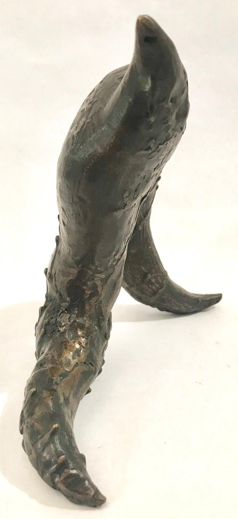 Mid-Century Modern Brutalist Bronze Sculpture For Sale 10