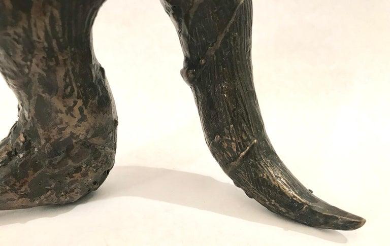 Mid-20th Century Mid-Century Modern Brutalist Bronze Sculpture For Sale