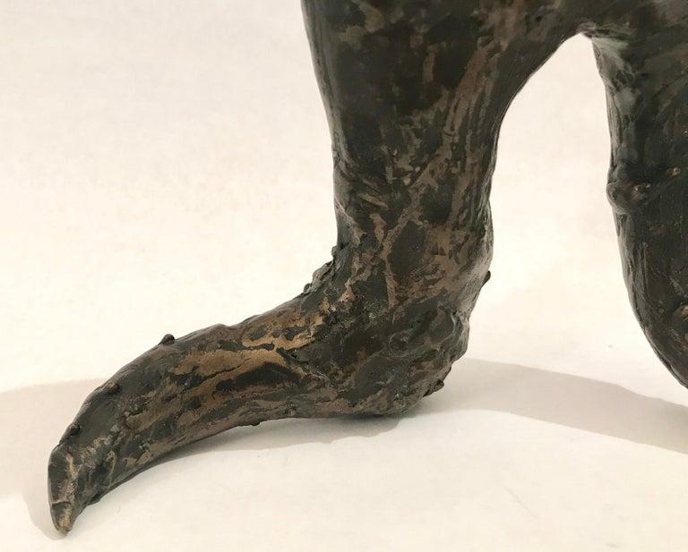 Mid-Century Modern Brutalist Bronze Sculpture For Sale 1