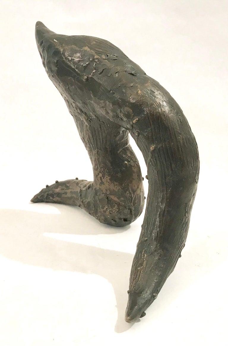 Mid-Century Modern Brutalist Bronze Sculpture For Sale 3