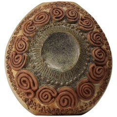 Mid-Century Modern Brutalist Ceramic Vase by Bernard Rooke